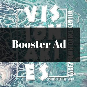Booster Ad in Recital Program